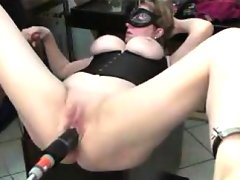 Voluptuous bondage fetishist has a..