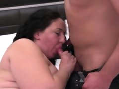Fat and hot mature gets fucked hard by..