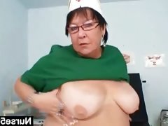Mature bbw wife is fingering her fat..