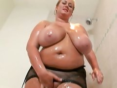 Fat chick with fuckable huge boobs in..