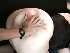 Bbw ayla in black corset anal