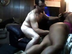 Guy fucks chubby black mom