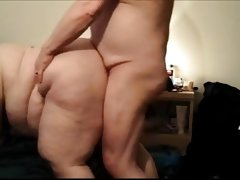 Ssbbw side angle view, doggystyle