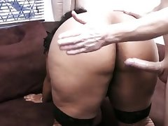 Big busty black girls enjoys white cock