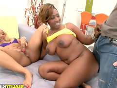 Big ass black women take on his cock