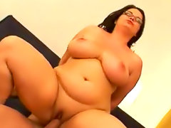 Fat bitch in glasses hardcore sex