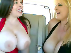 Huge tits curvy milfs have sex