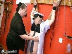 Fat kinky mistress loves abusing