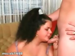 Bbw france lady with huge melons sucks
